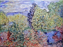 Photo dessins et illustrations, Montgeron - Coin de jardin à Montgeron;Influence,Claude Monet.