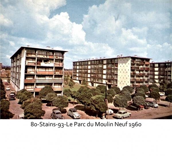 Photo Stains - Le parc Parc du Moulin Neuf 1960