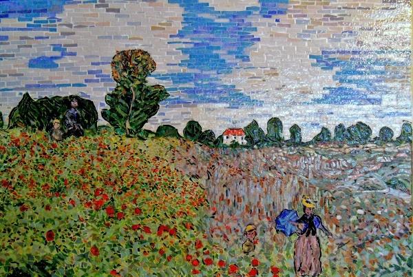 Le champ de coquelicots à Argenteuil-influence,Claude Monet.