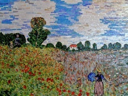 Photo dessins et illustrations, Argenteuil - Le champ de coquelicots à Argenteuil-influence,Claude Monet.