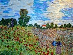 Photo dessins et illustrations, Argenteuil - Le champ de coquelicots à Argenteuil.Influence,Claude Monet.